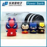 Cartoon 8800mah Power Bank Battery Pack Batman Darth Vader Spider Man Marvel's The Avengers Portable Battery Charge