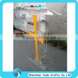 acrylic pulpit plexiglass modern lectern podium with cross