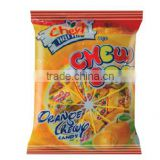 Orange chewy candy