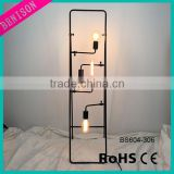 hot selling 110V 220V LED 2 or 4 lampholder black pipe antique/vintage desk/ table / floor lamp for party / bar / restaurant