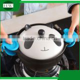 kitchen non-stick silicone butterfly bbq baking grill heat resistant oven finger clip glove gloves