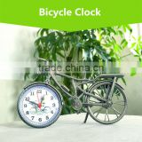 Classic European Style Creative Bicycle Shape Clock, Hot-sale Home Desk Decorative Bicycle Design Clock