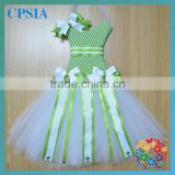 Newestl ! CUTE Tutu ribbon bow holder Soft chiffon Tutus chevron white bow holder