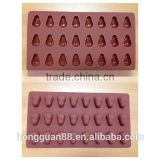 FDA food grade silicone 24 cups nut shape silicone chocolate molds chocolate maker Online selling silicone cake molds