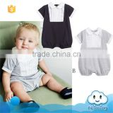 SR-257B Collar baby body suit black grey baby clothing wholesale china customer design wear