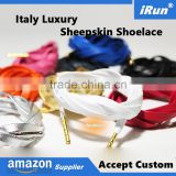 Genuine 7mm Sheepskin Shoelace Strings for Adidas Ultra Boost - Black/White/Red/Blue/Gray/Gold/Silver/Pink/Orange eBay Supplier