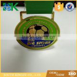 Custom pad printing football sport machine to make medal with match medal ribbon