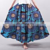 latest design womens african wax prints fabric super wax hollandais long skirt