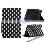 Factory Price ! Hot sell Magnetic Flip Polka Dots Stand Leather Case For ASUS Google Nexus 7 Case, various color
