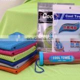 Soft Breathable instand Cooling sport iceTowel for Camping Hiking Gym