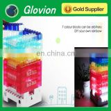 Glovion constructible desk lamp 5V safety DIY toy bricks light 7 color rainbow blockes lamp