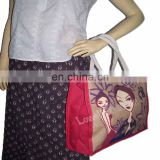 Logo printed jute bag