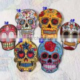Skeleton Skull Iron on Embroidery Patch for Jeans,Wholesale Embroidery Badge/Custom Embroidery Patch/Embroidery Patch Skull