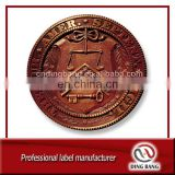 Low MOQ Factory Custom Made Double Side Embossed Type Antique Style Metal Souvenir Vintage Bronze Coin