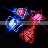 Wholesale price colorfull led glowing customized acrylic stick concert supplies Christmas gift