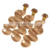 Alibaba China Direct Factory manufacture body wave blonde hair weave,high quality hair extension human hair remy