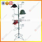 4 Tiers rotating baseball cap display rack