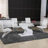 hot sale modern tempered glass extension dining table