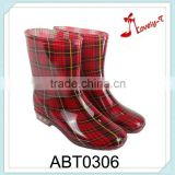 pvc girl fashion wholesale rain boots