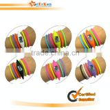 New design and fashionable long strap ion silicone watch