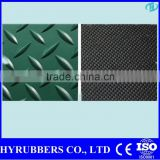China manufacturers wholesale diamond rubber sheet with tread