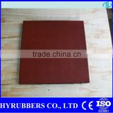 Rubber Flooring made in china square interlock outdoor rubber floor in two layer                                                                         Quality Choice