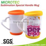 sublimation ceramic mug factory white Heart Hndle Ceramic Mug, 110z beautiful ceramic mug
