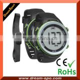 Digital Sport Watches with Heart Rate Monitor - Pulse Monitor Rubber Chest Strap