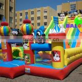 Cartoon inflatable slide, inflatable playground for kids, commercial inflatable playground