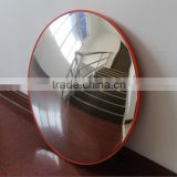 100cm aging-resistant road safety orange traffic convex mirror outdoor/security traffic convex mirror for traffic safety