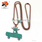 uniqe order available latest design crystal bead necklaces car with Imperial crown necklace