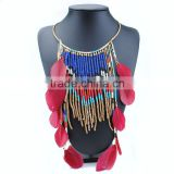 Indian Costume Jewelry Long Tassel Leather Necklace Chokers for Women