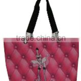 Classic Lightweight Shopping Tote Bag Handbag Bag for Life Pink Clear PVC Bag With Zipper