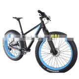 2016 Popular new blue painting carbon fat bike complete fatbike carbon bikes 26x4.0 Tire Shima XT M8000 groupset