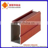 Heat Transfer Aluminum Wood Finish Profile for Windows, Doors and Handrails