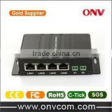 Golden supplier manufacturer product with low price EoC Converter with 1 BNC Port and 4x Ethernet Ports