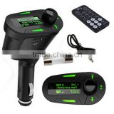 Car Kit MP3 Player Audio Wireless FM Transmitter Modulator USB SD MMC LCD control Car mp3 player