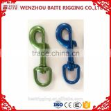China Supplier Color Painted Swivel Bolt Snap,swivel spring bolt hook nose ring,Colorful Spring Hook in carabiner manufacturer