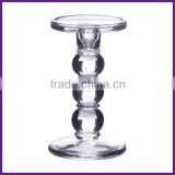 Hand Pressed stemware candle holder glass