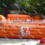 Bespoke China Guangzhou advertising cheap inflatable sofa chair pink