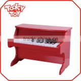 Mini Red Upright Toy Piano Wooden Piano For Children