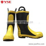 Rubber fire safety boots ,fire escape shoes