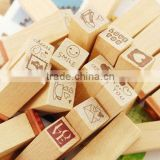 free shipping Wooden Stamps AlPhaBet and letters seal uppercase lowercase wooden stamp set/28 pcs antique stamp school use