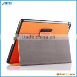 2015 Hot selling,high quality fashionable factory price flip leather tablet case for iPad air 2