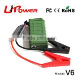 powerful 12000mAh 12v lithium battery FCC, CE-EMC/SGS/ITS Certification mini car jump starter with AC adaptor