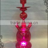 Wholesale Colorful Best price Shisha Hookah Glass with LED light Act clear Glass Hookah Beauty
