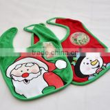 2015 Christmas cotton Baby bib cute kids apron /christmas cheap cotton baby bib/baby christmas bibs