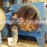 rotary drum / barrel shot blasting cleaning machine for shaped small parts CE, ISO9001 Certified energy saving