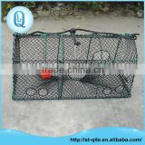 Latest rectangle metal frame pe net crab trap lobster trap shrmip trap