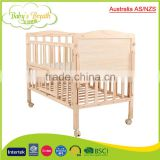 WBC-05B australia AS/NZS baby wooden convertible crib dimensions, bamboo baby crib